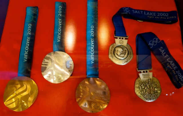 Bodie Miller Olympic Medals, New England Ski Museum, NH