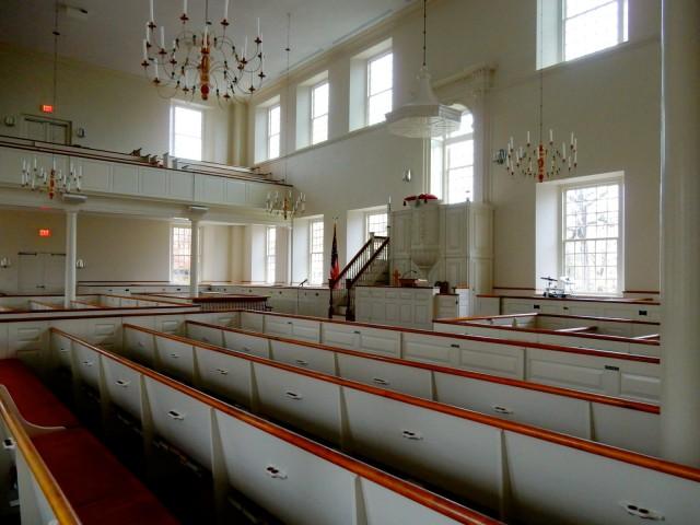 First Church interior, Wethersfield CT