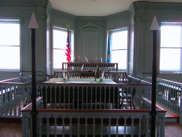 Old State House Witness Stand, Dover DE