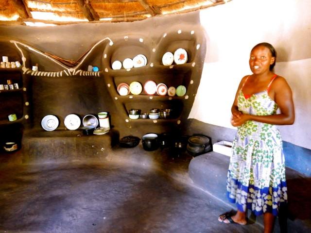 Dining Hut, Village Headman homestead, Hwange, Zimbabwe
