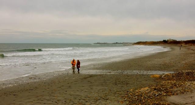 Scarborough State Beach in Winter, Narragansett RI