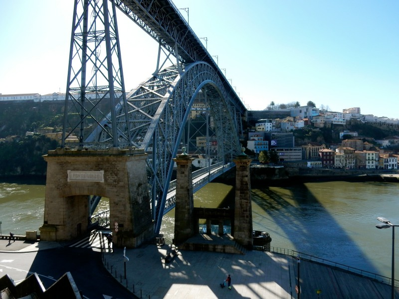 Dom Luis Bridge from below, Porto Portugal