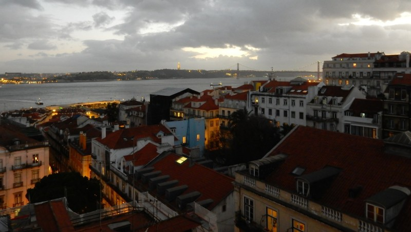 Dusk in Lisbon