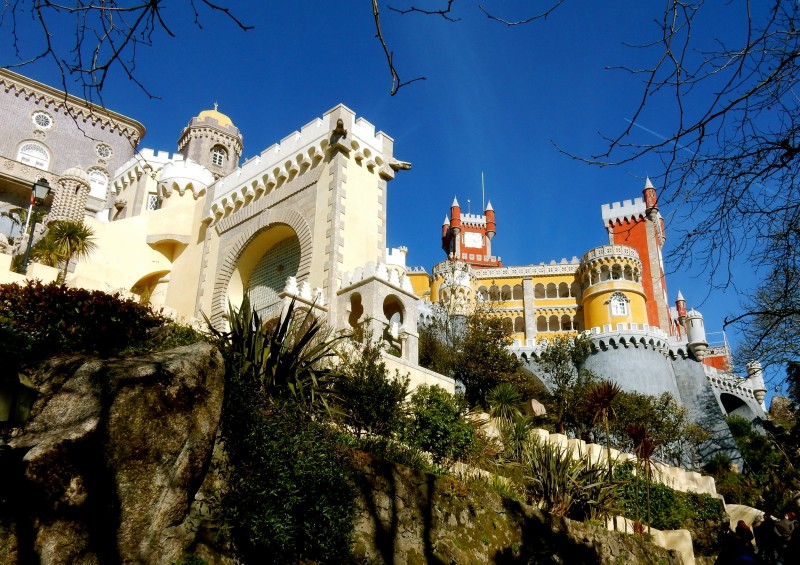 Pena Palace from below, Sintra Portugal