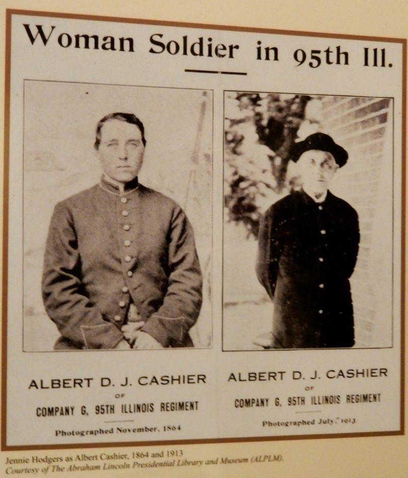 Jennie Hodgers as Albert Cashier, Frederick MD