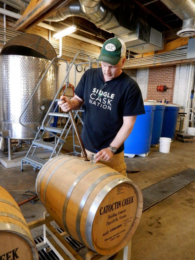 Making whiskey, Catoctin Creek Distillery, Purellville VA
