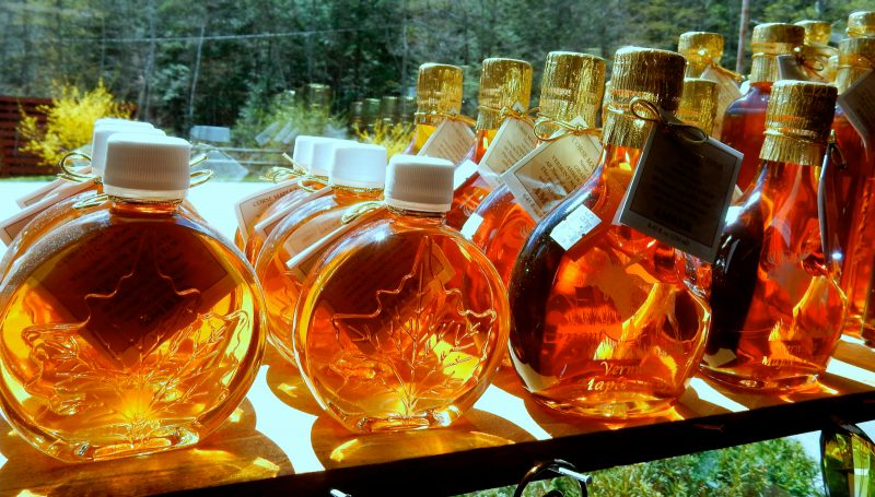 Maple Syrup at Vermont Maple Museum Gift Shop, Wilmington VT