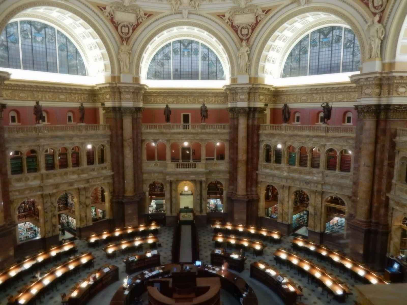 Main Reading Room - Library of Congress Jefferson Building Washington DC