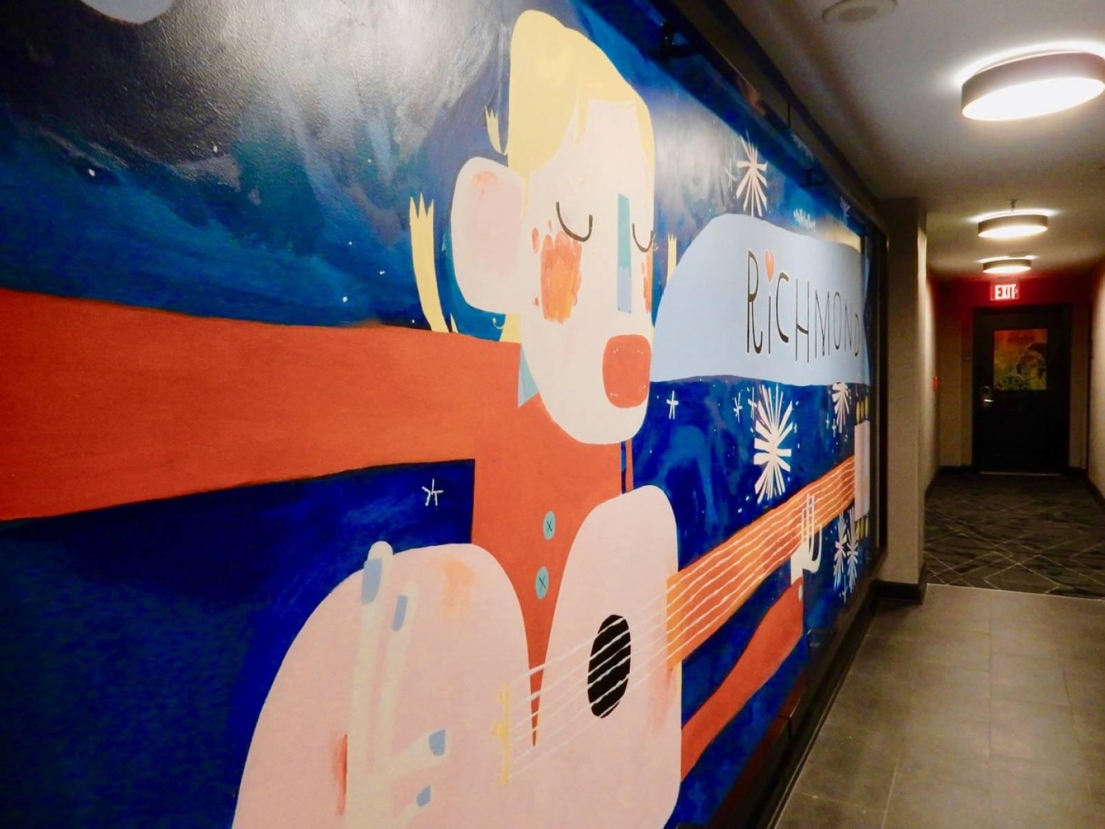 Art Mural Commonwealth Hotel Richmond VA