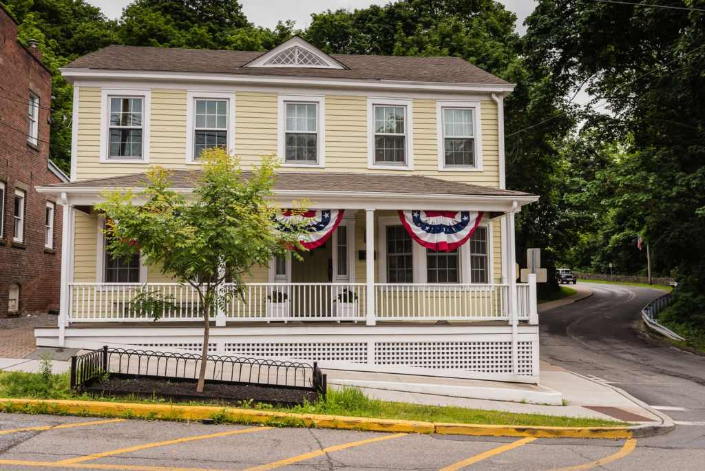 One of the historic homes found in the Cold Spring Historic District in Cold Spring NY.