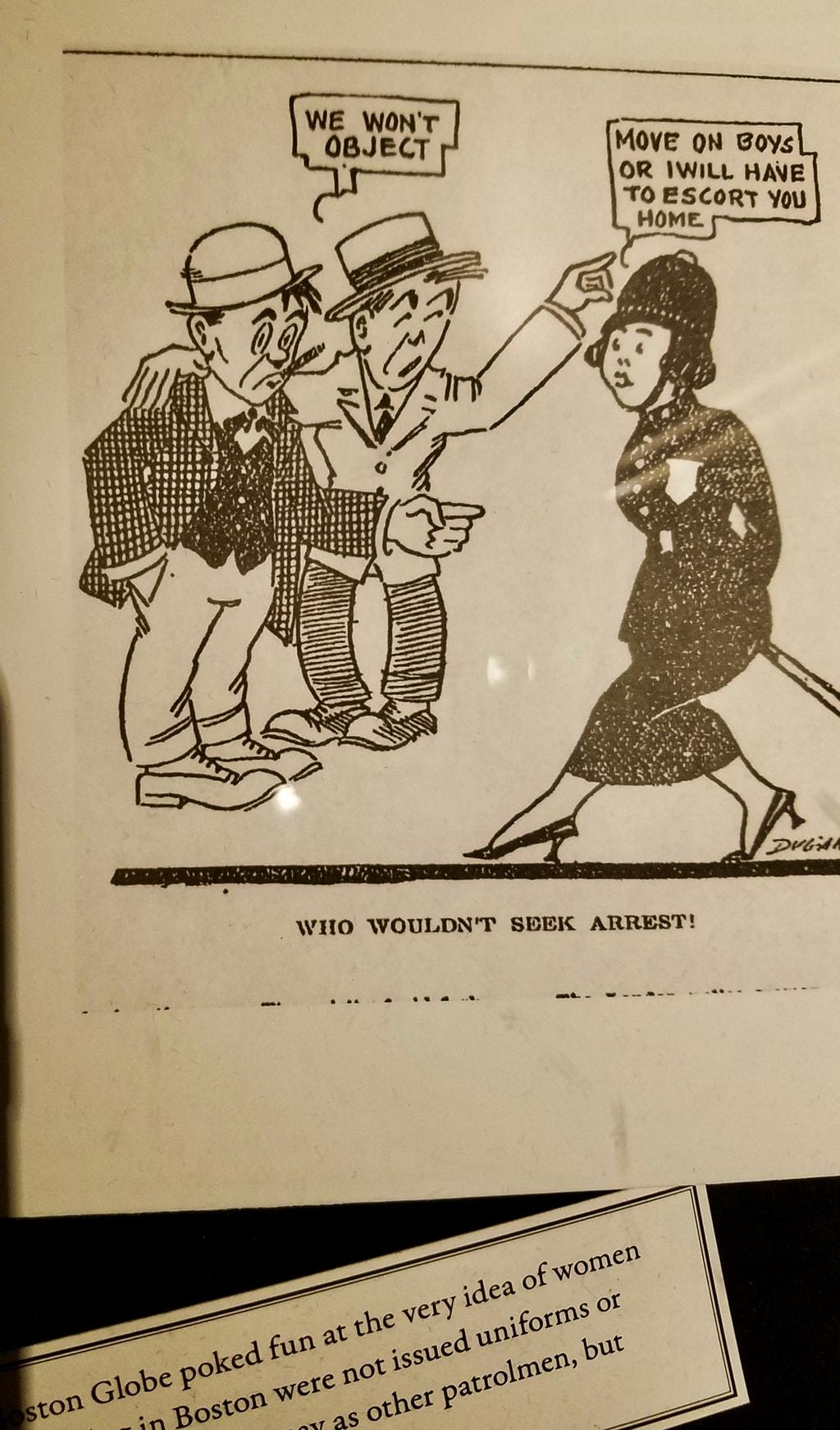 Woman Cop Cartoon, Loews Boston Hotel