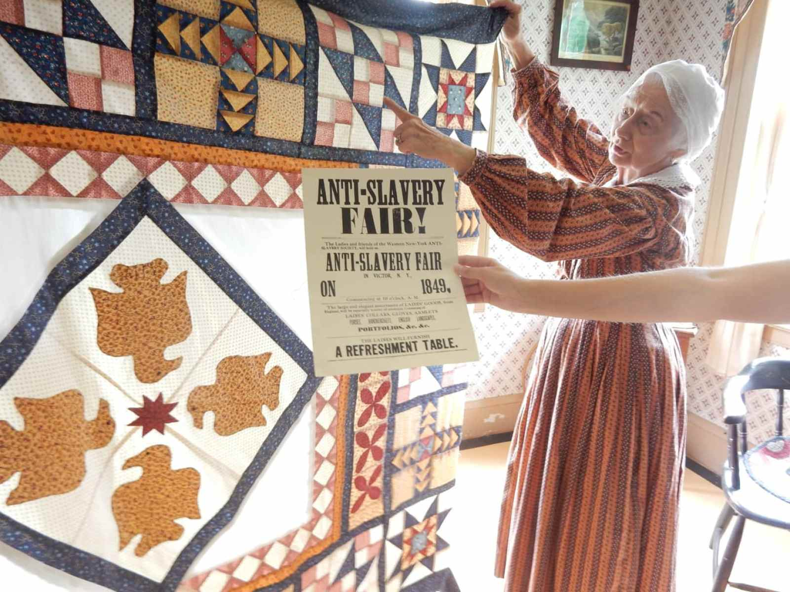 Anti-Slavery Quilt Eastman Childhood Home Genesee Country Village and Museum Mumford NY