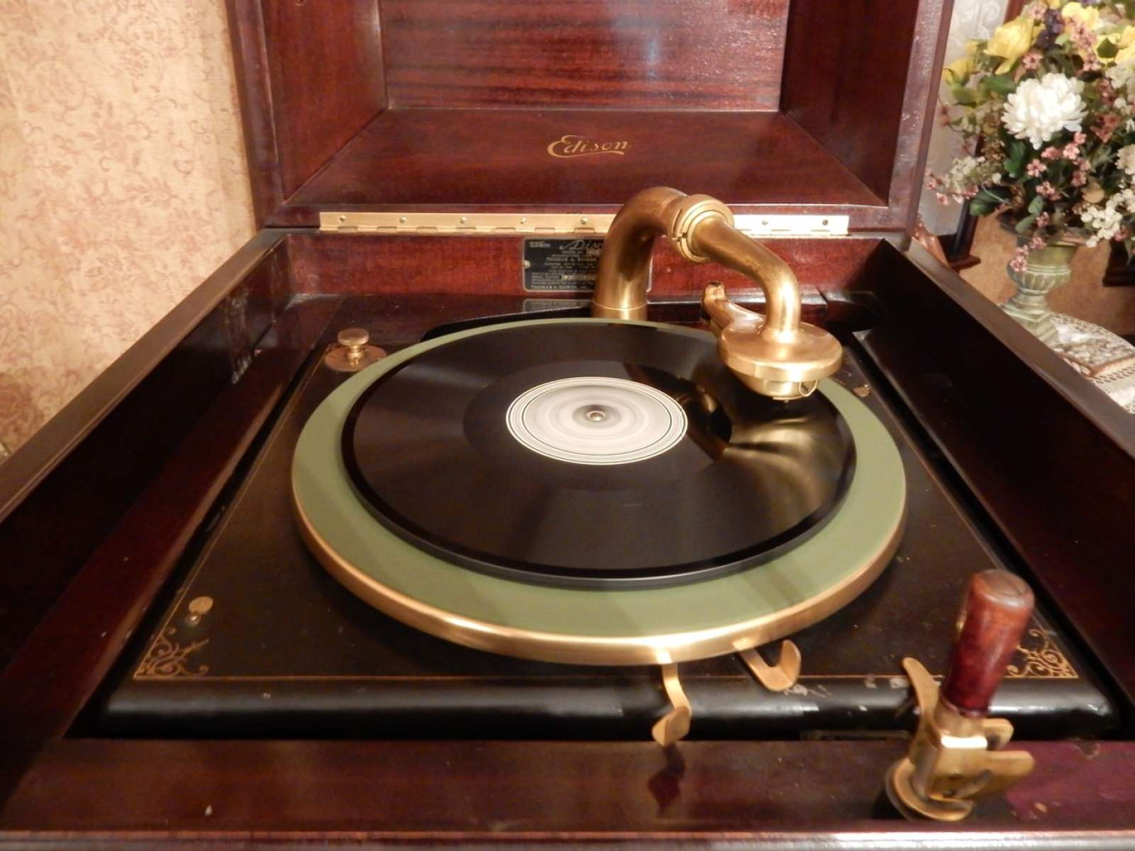 Working phonograph, Clearfield County Historical Society PA