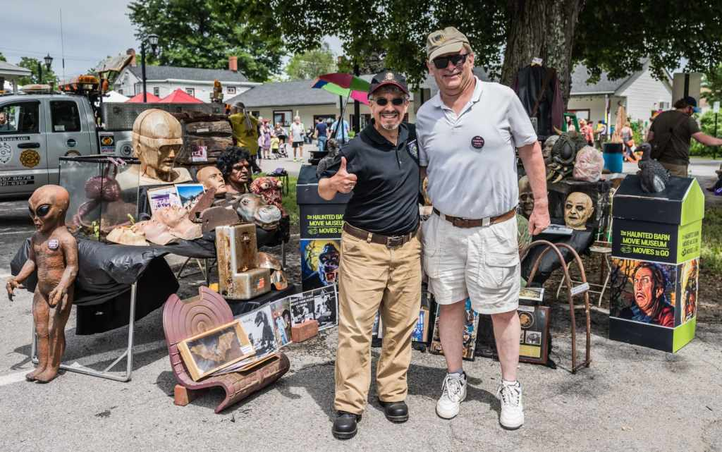 Joey Vento and his Haunted Barn Movie Museum collection.
