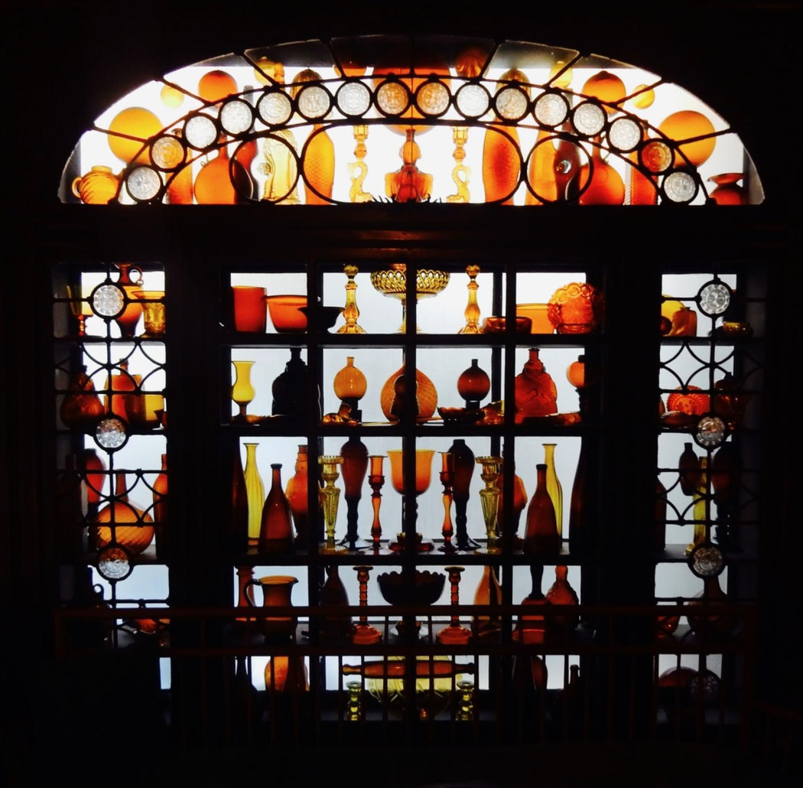 Amber Glass Collection Sleeper-McCann House Gloucester MA