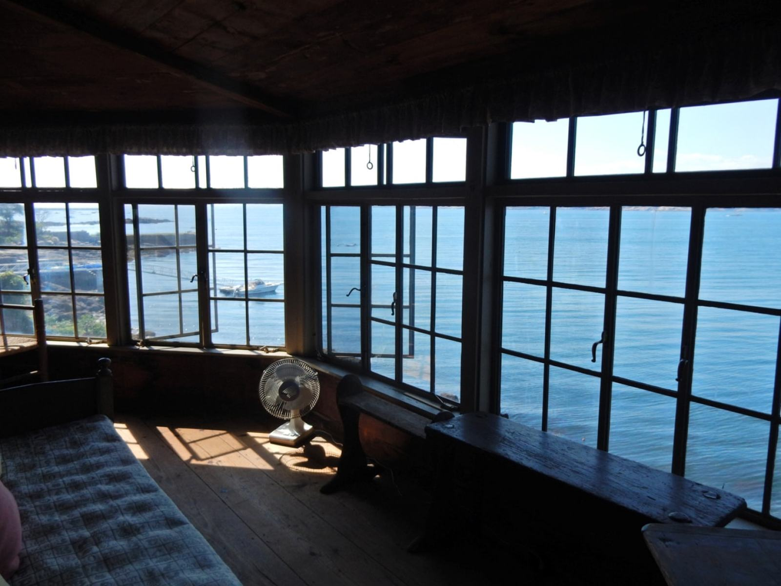 View of Outer Harbor from Sleeper McCann House Gloucester MA