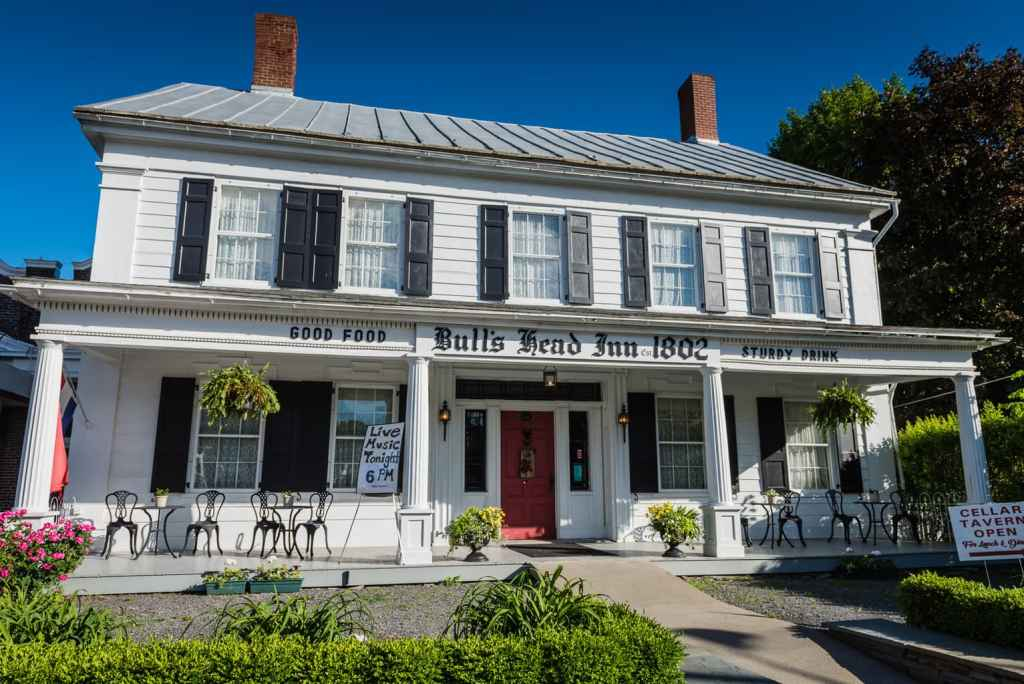 Front exterior of Bulls Head Inn in Cobleskill NY