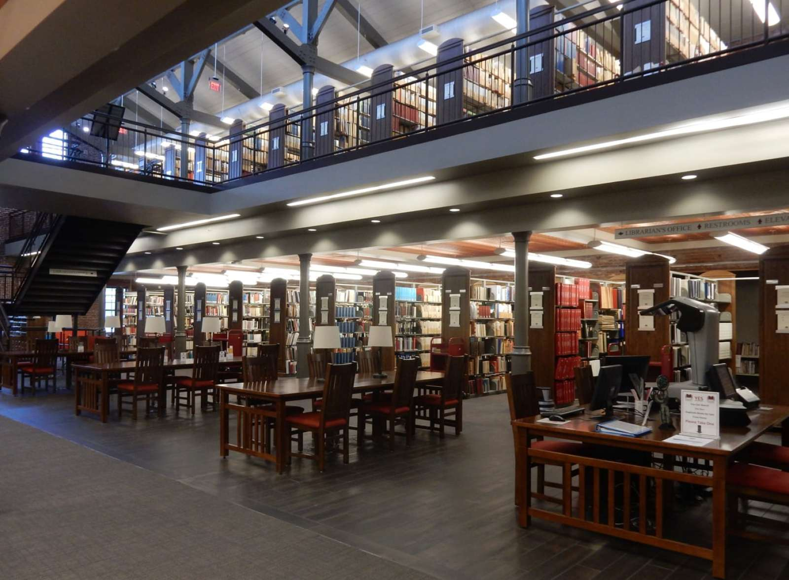 Public Access Library - American Philatelic Society Headquarters at the Match Factory, Bellefonte PA