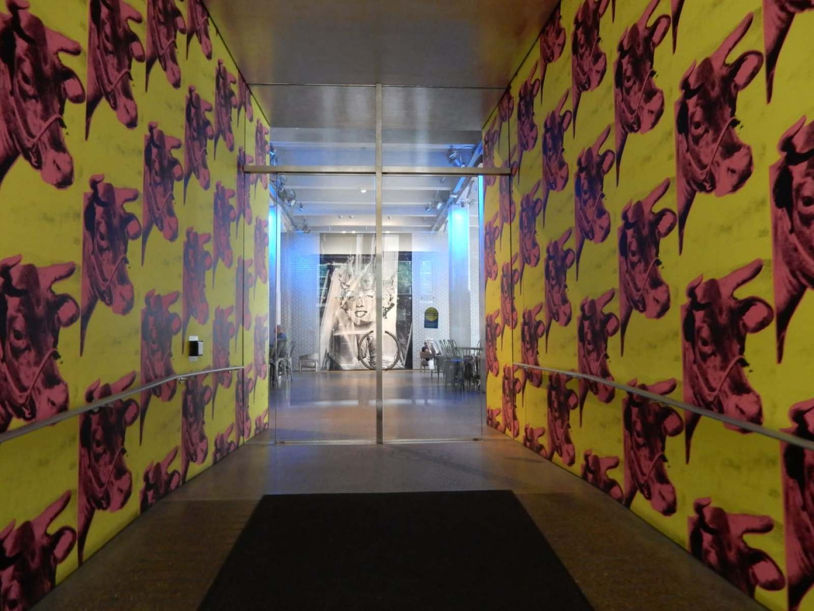 Entrance to Andy Warhol Museum Pittsburgh PA