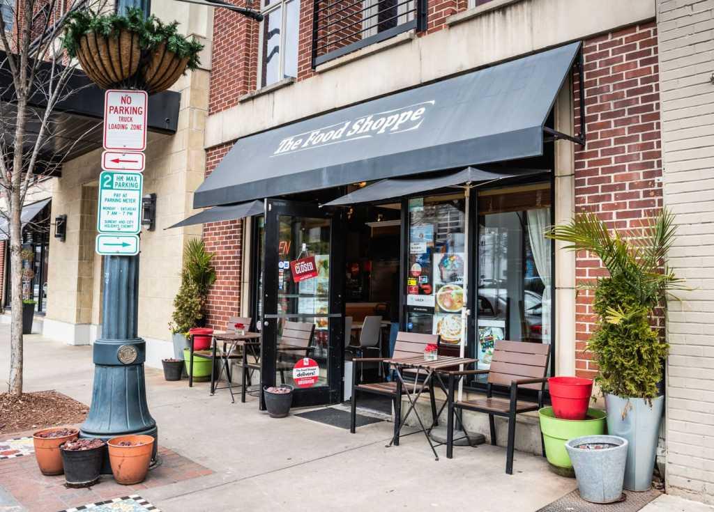 Front facade of The Food Shoppe in Atlanta GA.