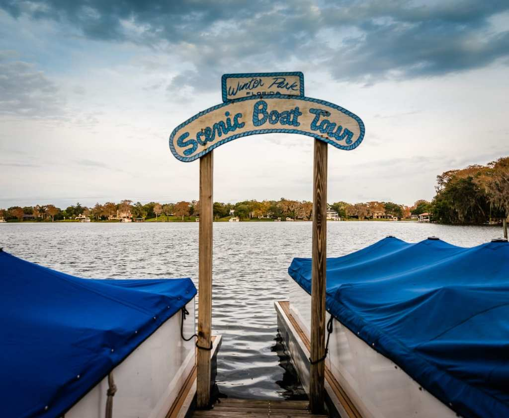 Scenic Boat Tour dock in Winter Park Florida