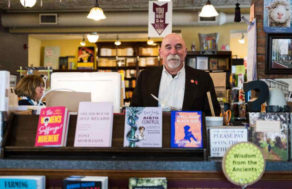 Stanley Hadsell, owner of Market Block Books.