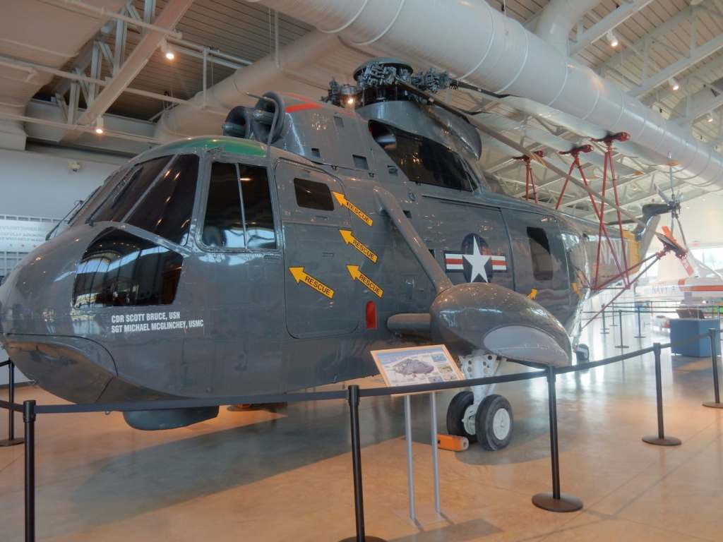 Navy Rescue Helicopter in Naval Air Museum