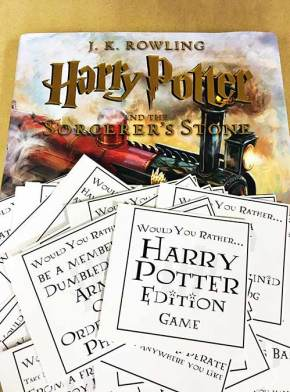 Harry Potter Would You Rather Game - 30+ Harry Potter Gift Ideas for the Harry Potter Lover in your life. This gift guide includes clothing, home decor, food and anything else Harry Potter! thekeeledeal.com