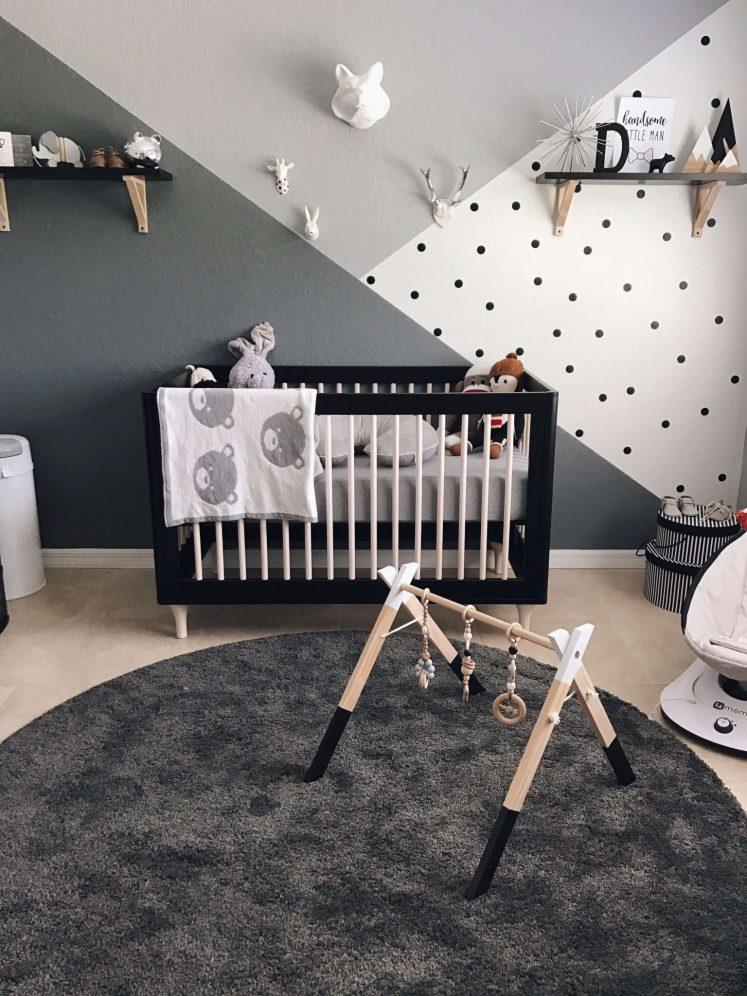 Gorgeous gray baby boy room ideas #babyboyroomideas #boynurseryideas #cutebabyroom