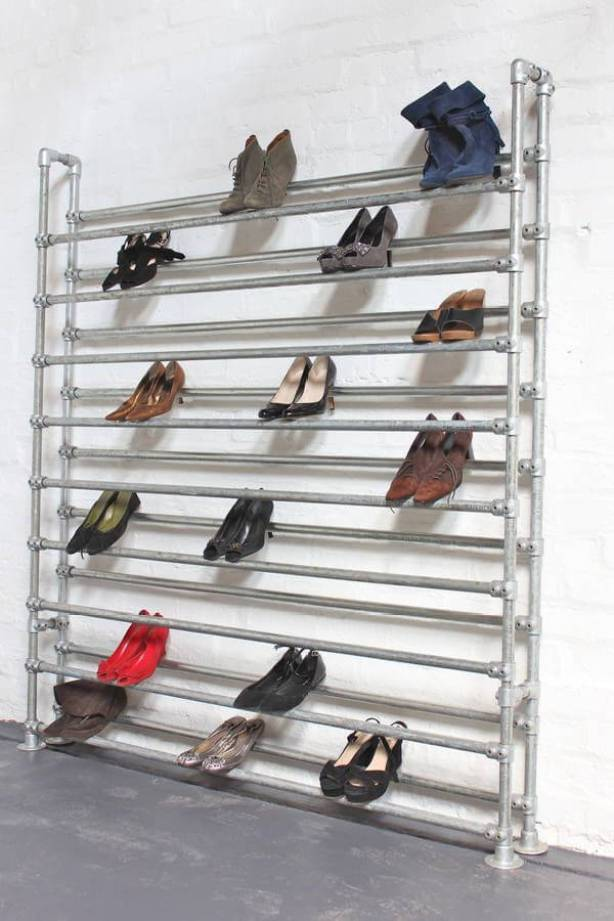 Sensational modern shoe storage ideas #shoestorageideas #shoerack #shoeorganizer