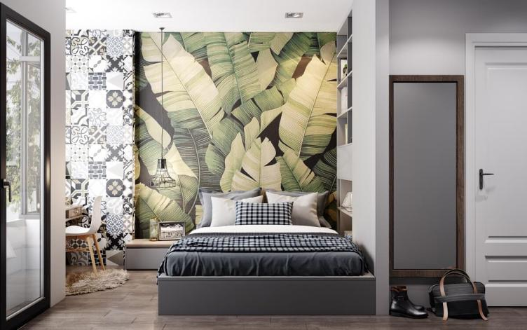 Unbelievable accent wall ideas for small bedroom #accentwallideas #wallpaperideas #wallpaintcolor