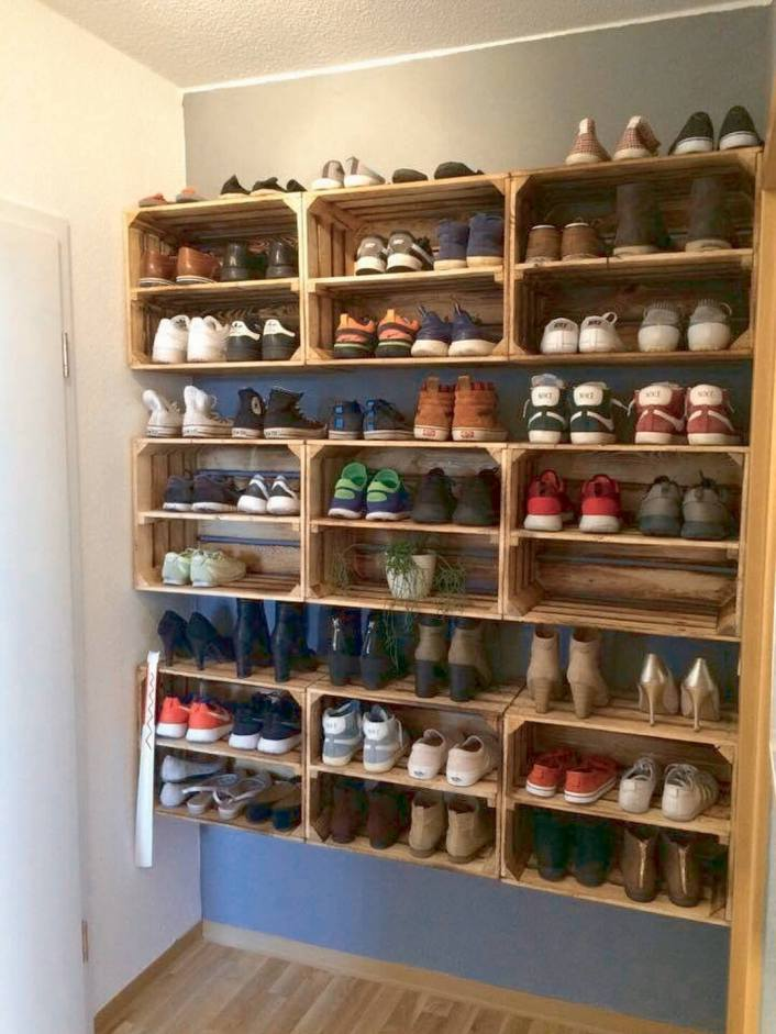 Spectacular shoe storage display ideas #shoestorageideas #shoerack #shoeorganizer