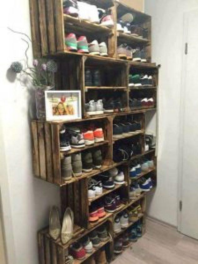 Glorious shoe rack #shoestorageideas #shoerack #shoeorganizer