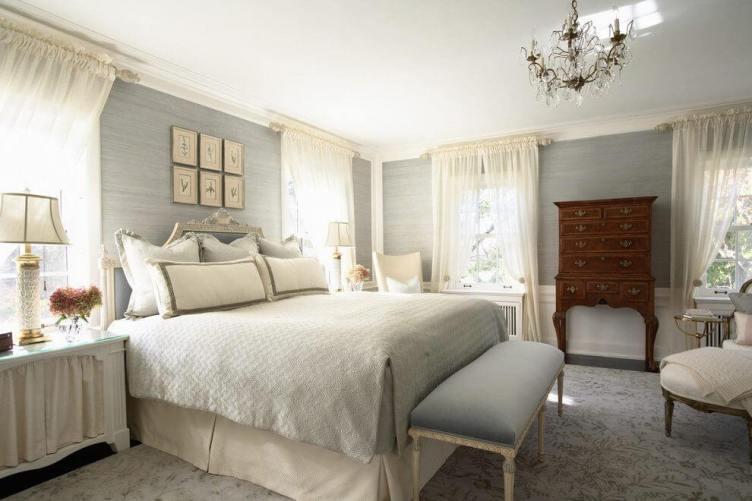 Gorgeous gray bedroom curtain ideas #bedroomcurtainideas #bedroomcurtaindrapes #windowtreatment