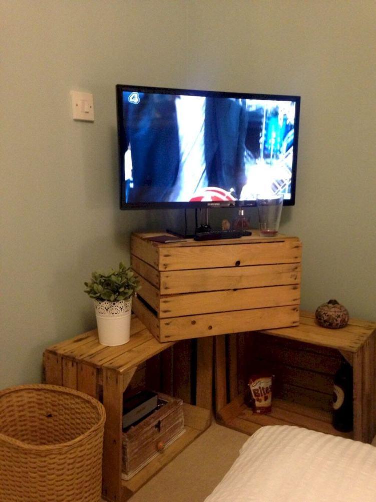 Miraculous diy rotating tv stand #DIYTVStand #TVStandIdeas #WoodenTVStand