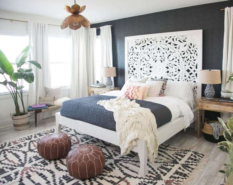 Sensational bedroom curtain ideas contemporary #bedroomcurtainideas #bedroomcurtaindrapes #windowtreatment