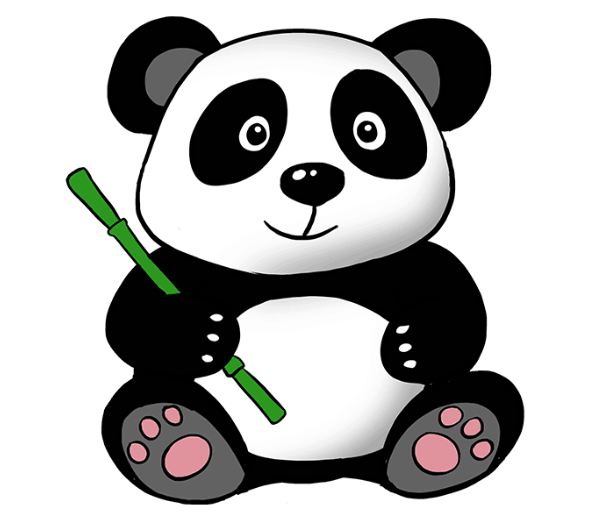 How To Draw A Panda Tutorial Easy Drawings Sketches Cute Cartoon