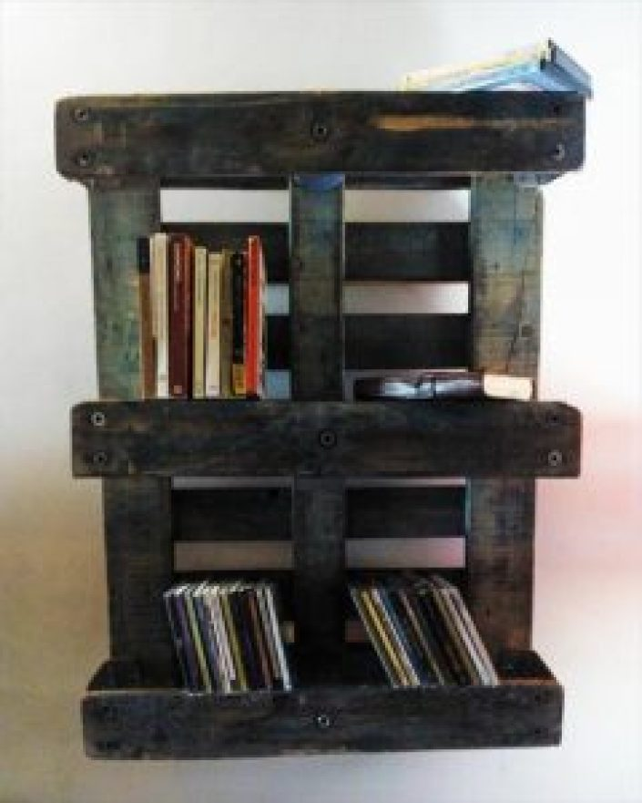 Awesome rustic bookshelf diy #diybookshelfpallet #bookshelves #storageideas