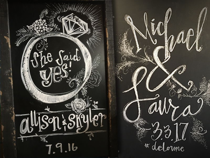 Cheyenne Bolin Wedding Chalk design