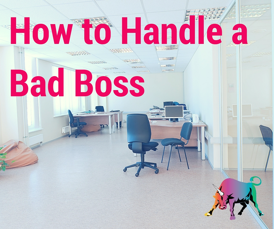 how to deal with a bad boss