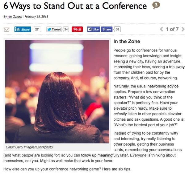 Stand out at a conference