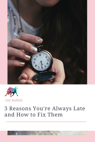The Three Reasons You're Always Late and How to Fix Them - a Get Bullish Article by Jen Dziura
