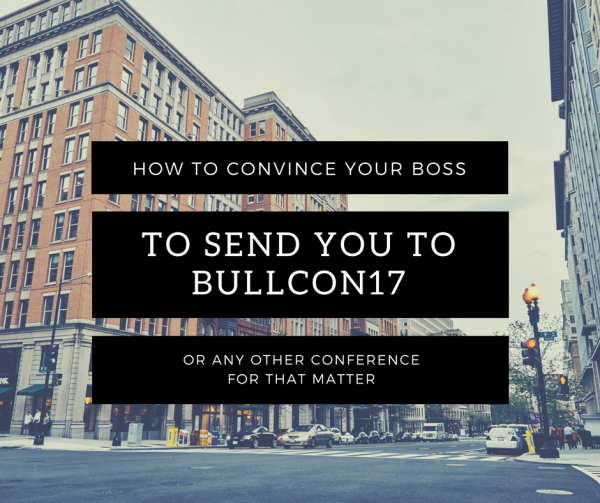 Convince your boss to send you to a summit or conference. Perfect for expensing your Bullish Conference tickets and boosting your career.