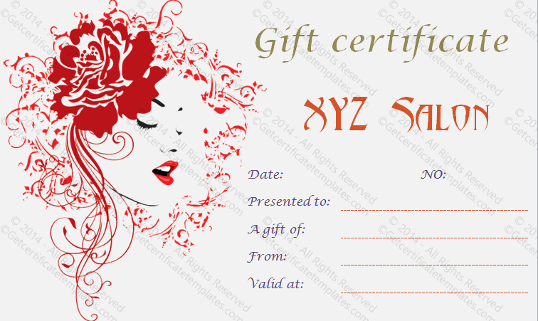 Gift Certificate Template Word 2010