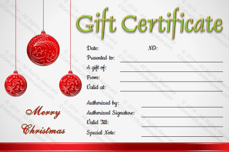 Free Christmas Gift Voucher Template Word Idea Gallery