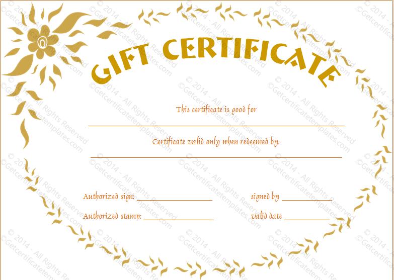 Feel Good Gift Certificate Template