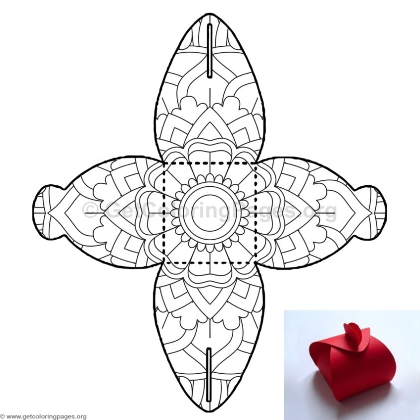Candy Box Coloring Pages 9