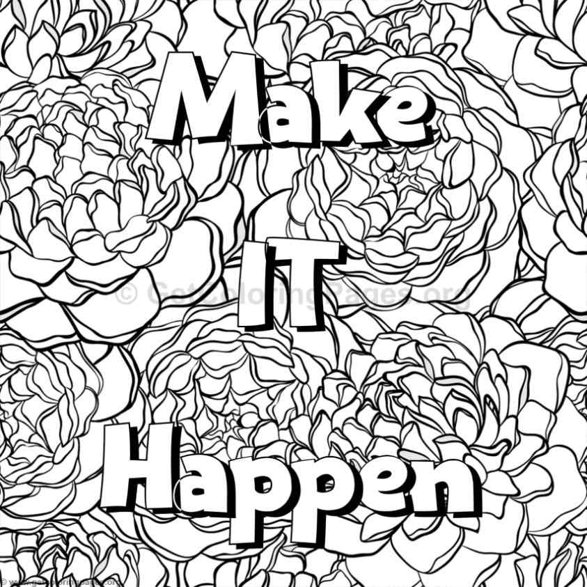 Inspirational Word Coloring Pages 54