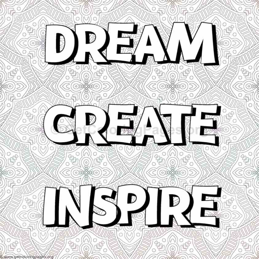 Inspirational Word Coloring Pages 12