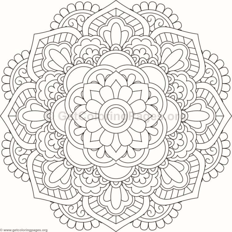 Flower Mandala Coloring Pages 109
